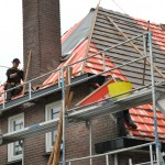 dak met schoorsteen